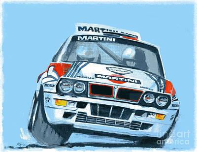 Martini Lancia Poster by Ron Riffle