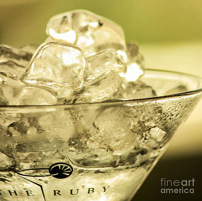 Martini On Ice Poster by Rene Triay Photography