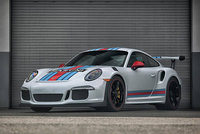 Poster featuring the photograph #martini #porsche 911 #gt3rs #print by ItzKirb Photography