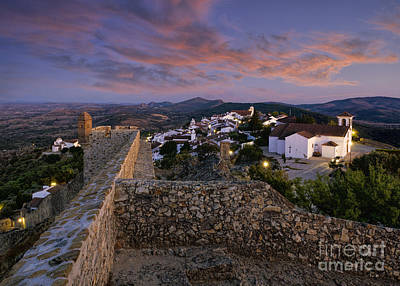 Marvao Dusk Poster by Mikehoward Photography