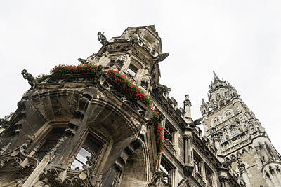Marvelous Munich - Ornate Neo-gothic Architecture Of Neues Rathaus Or New Town Hall Poster
