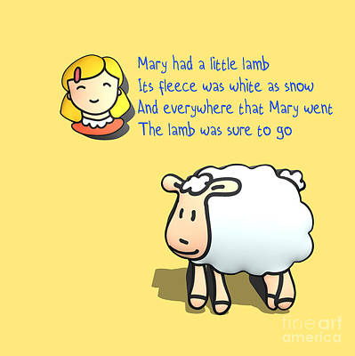 Mary Had A Little Lamb Poster by Humorous Quotes