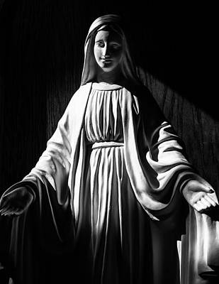 Poster featuring the photograph Mary by Monte Stevens