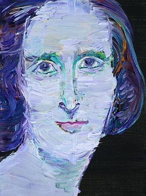 Poster featuring the painting Mary Shelley - Oil Portrait by Fabrizio Cassetta