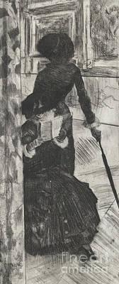 Mary Stevenson Cassatt Poster by Edgar Degas