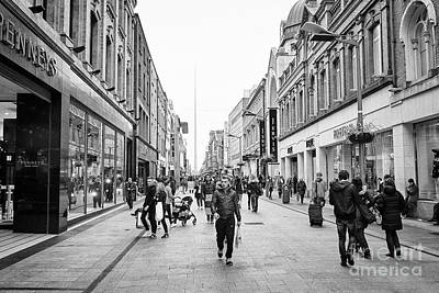 mary street and jervis shopping centre pedestrian shopping area dublin city centre Ireland Poster