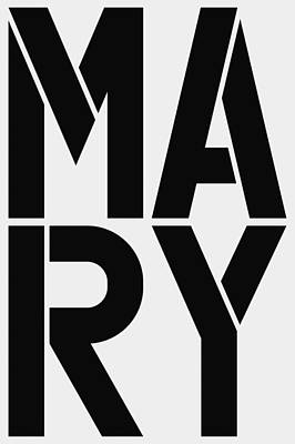 Mary Poster by Three Dots