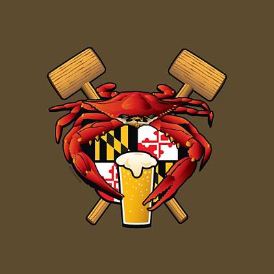 Maryland Crab Feast Crest Poster