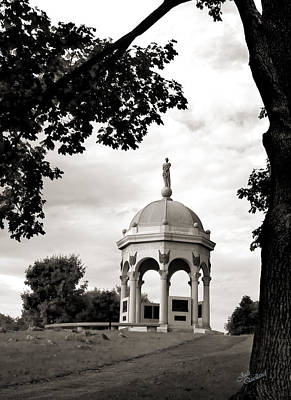 Maryland Monument Black And White Poster