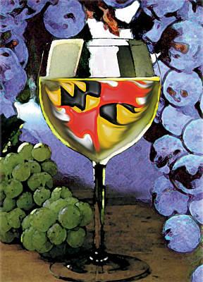 Maryland Wine Poster by John D Benson
