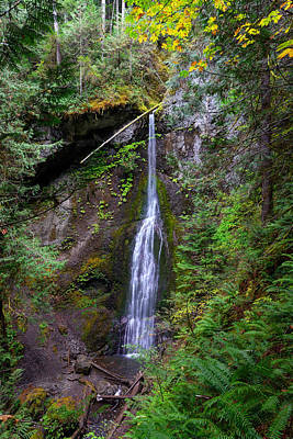 Marymere Falls Poster by Mark Whitt