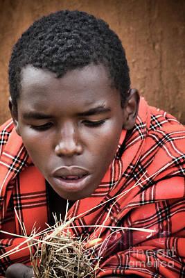 Poster featuring the photograph Masai Firemaker by Karen Lewis