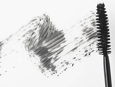 Mascara Brush Leaving Traces Of Mascara Poster by Eric Kulin