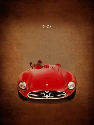 Maserati 300 S Poster by Mark Rogan