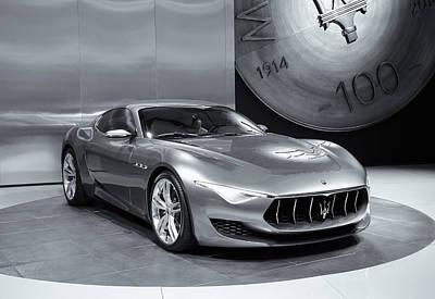Maserati Alfieri Reflections Mono Poster