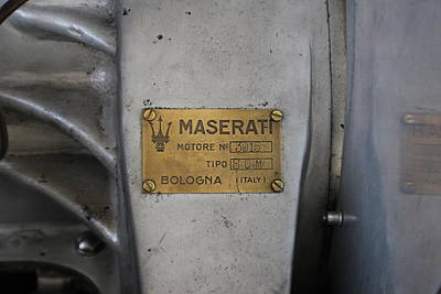 Maserati Motore 3015 Poster by Robert Phelan
