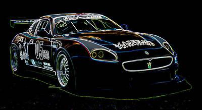 Maserati Poster by Sebastian Musial