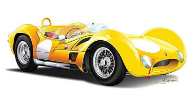 Maserati Tipo Poster by Alain Jamar