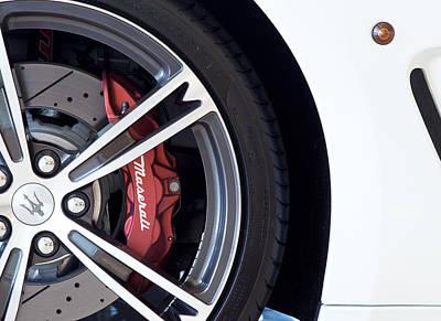 Maserati Wheel White Poster