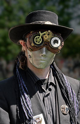 Masked Man - Steampunk Poster by Betty Denise