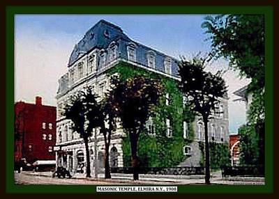 Masonic Temple, Elmira N Y, 1905 Poster by Dwight GOSS
