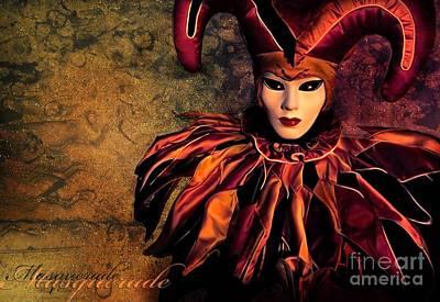 Masquerade Poster by Jacky Gerritsen