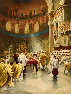 Masses In St. John Lateran In Rome Poster by Mountain Dreams