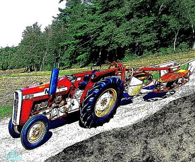 Massey-ferguson 235 Poster by Cliff Wilson