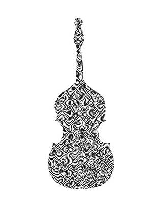 Massive Grass - Upright Bass Poster by A Mad Doodler