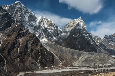 Poster featuring the photograph Massive Tabuche Peak Nepal by Mike Reid