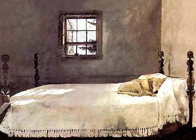 Poster featuring the painting Master Bedroom  by Andrew Wyeth