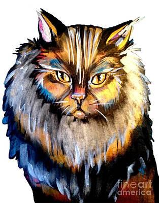 Master Cat Poster by Abbi Kay