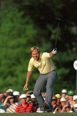 Masters Winning Put 1986 Jack  Nicklaus 1986 Poster by Peter Nowell