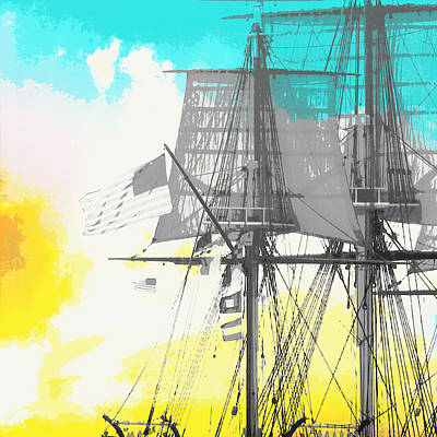 Masts And Sails 2 Poster by Brandi Fitzgerald
