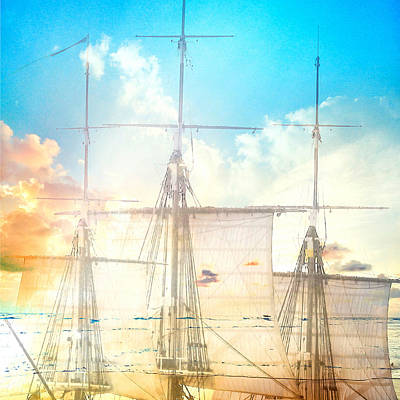 Masts And Sails 3 Poster by Brandi Fitzgerald