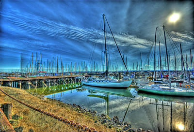 Masts Without Sails Poster by Dale Stillman