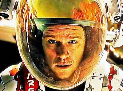 Matt Damon As The Martian Poster by John Malone