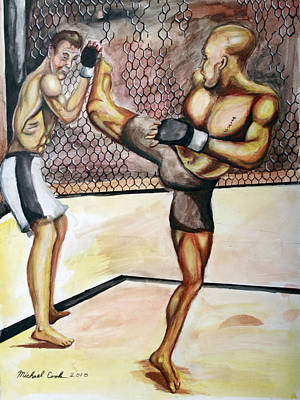 Matt Hughes Vs.georges St-pierre Poster by Michael Cook