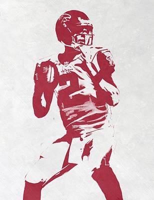 Matt Ryan Atlanta Falcons Pixel Art 2 Poster by Joe Hamilton