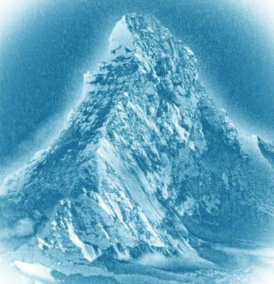 Poster featuring the mixed media Matterhorn by Frank Tschakert