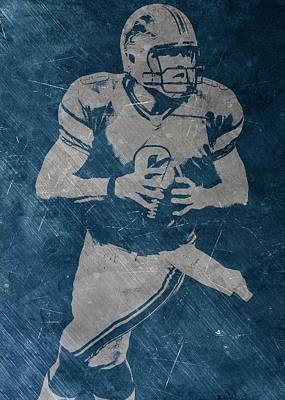 Matthew Stafford Detroit Lions Poster by Joe Hamilton