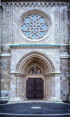 Matthias Church Rose Window And Portal Poster