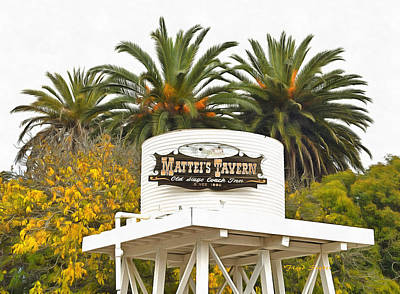 Poster featuring the photograph Matties Tavern Los Olivos California by Floyd Snyder