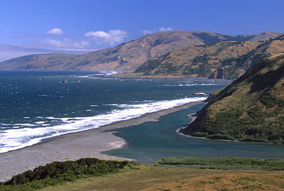 Mattole River Mouth - Mattole Beach Poster by Soli Deo Gloria Wilderness And Wildlife Photography
