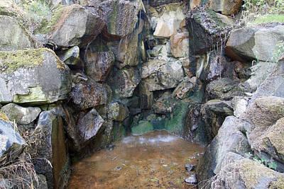 Mattoni Waterfall - Artificially Built Waterfall For Mineral Wat Poster
