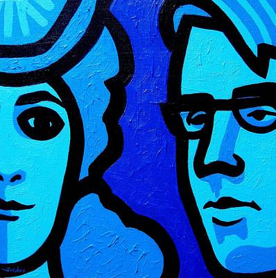 Maud Gonne And William Butler Yeats Poster by John  Nolan