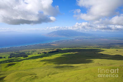 Maui Aerial Poster by Ron Dahlquist - Printscapes