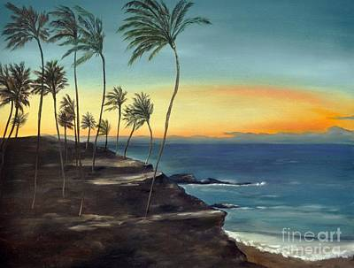Poster featuring the painting Maui by Carol Sweetwood