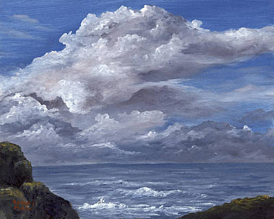 Poster featuring the painting Maui Clouds by Darice Machel McGuire