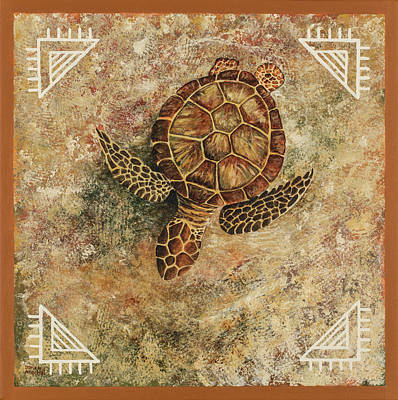 Poster featuring the painting Maui Honu by Darice Machel McGuire